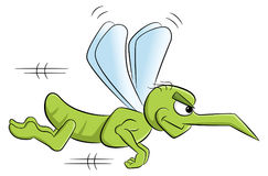 Bloodthirsty cartoon mosquito Royalty Free Stock Photography
