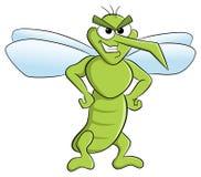 Bloodthirsty cartoon mosquito Stock Photo