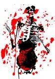 Bloody 2D Skelett mit Eingeweiden Stockbild