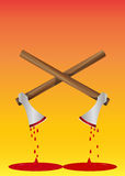 Bloody Axe, illustration Royalty Free Stock Image