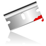 Bloody blade. Bloody steel blade over white background Royalty Free Stock Photo