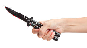 Bloody Butterfly Knife Royalty Free Stock Images