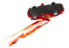 Bloody car accident Stock Images