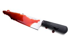 Bloody chefs Knife Royalty Free Stock Images