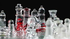 Bloody Chess From Glass Royalty Free Stock Image