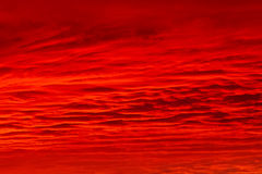 Red sky. Bloody clouds in the mountains red sunset or sunrise royalty free stock photos