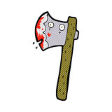 Bloody comic cartoon axe Royalty Free Stock Photo