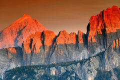 Bloody Dolomites stock photography