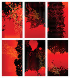 Bloody dragon backgrounds. Cards. Vector design elements. Each card in separated layer stock illustration