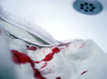 Bloody fabric Royalty Free Stock Image
