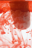 Bloody finger. A bloody finger dipped into water to clean it up Stock Photos