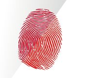 Bloody fingerprint royalty free stock photo