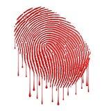 Bloody fingerprint stock illustration