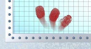 Bloody fingerprints Stock Images