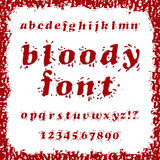 Bloody Font Royalty Free Stock Photography