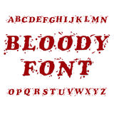 Bloody Font. Bloody Splash Font Letters Set Stock Photos