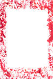 Bloody frame. Frame made with red gouache paint on white background Stock Images