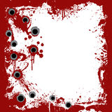 Bloody frame with gunshots background Royalty Free Stock Images