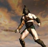 Bloody gladiator royalty free stock image