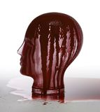 Bloody glass head Stock Images