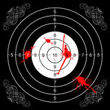 Bloody gothic wall target. Printout of a wall target for shooting with some bloodstains and gothic decorations Royalty Free Illustration