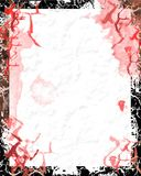 Bloody grunge paper. Bloody paper with grunge border - digital illustration Stock Photo