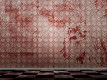 Bloody grunge room Stock Images