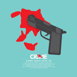 Bloody Gun, Criminal Concept. Bloody Gun, Criminal Concept Vector Illustration Stock Photo