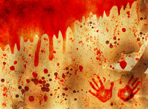 Bloody Halloween background Stock Photos