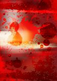 Bloody Halloween mary. Blood background with blood splat for halloween poster Royalty Free Stock Photos