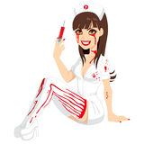 Bloody Halloween Nurse Royalty Free Stock Image