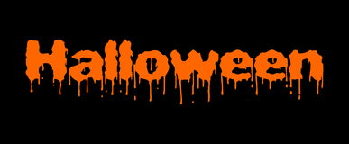 Bloody halloween orange text Royalty Free Stock Photo