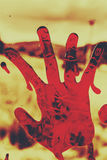 Bloody Halloween palm print Royalty Free Stock Images