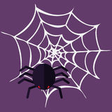 Bloody Halloween parts - spider web. Royalty Free Stock Photography