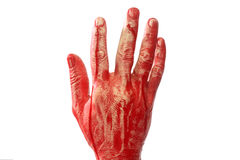 Bloody hand Stock Images