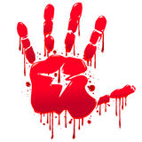 Bloody hand Royalty Free Stock Images