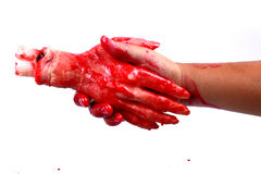 Bloody hand making Royalty Free Stock Photography