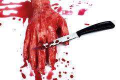 Bloody hand making Stock Image