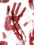 Bloody hand print. Isolated on white Royalty Free Stock Image