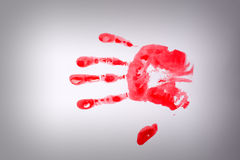 Bloody hand-print Royalty Free Stock Photo