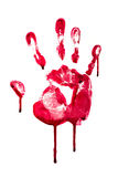 Bloody hand print Stock Images
