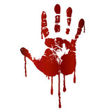 Bloody hand print Stock Photo