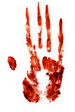 Bloody hand print. Isolated on white background Royalty Free Stock Image