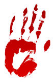 Bloody Hand Print Royalty Free Stock Photography
