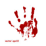 Bloody hand print. Vector background Stock Images