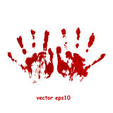 Bloody hand print. Vector background Royalty Free Stock Image