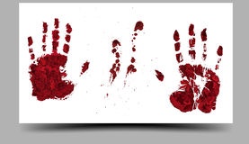 Bloody Hand-prints. 16:9. Bloody Hand-prints. vector illustration 16:9 Royalty Free Stock Image