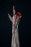 Bloody hand zombie demon Stock Images