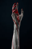 Bloody hand zombie demon. Studio Royalty Free Stock Photo