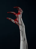 Bloody hand zombie demon Royalty Free Stock Images